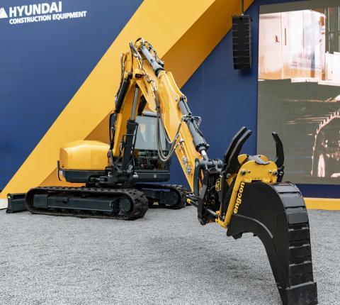 Hyundai forbereder produktionen af gravemaskiner til Engcons tiltrotatorer
