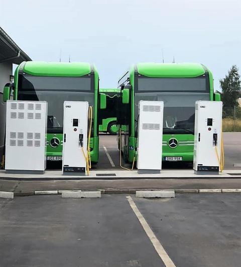 GARO AB levererar laddinfrastruktur för elbussar