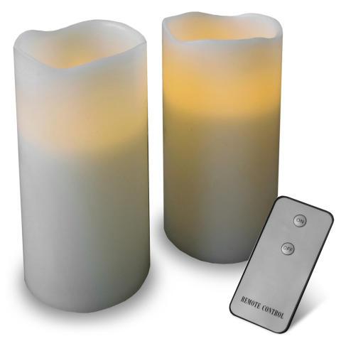Elektriska stearinljus med fjärrkontroll (2-pack)