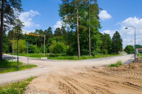 Folkets Park, Linköping_byggnation av gator vid brf Dansbanan_juni2013