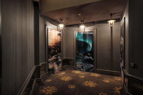 Hologram doors at Stora Hotellet Umeå by Stylt