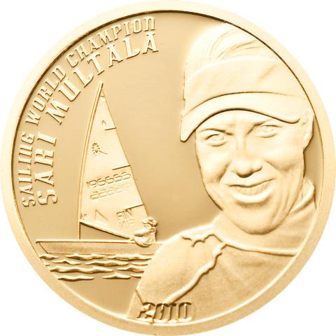 Purjehduksen maailmanmestari Sari Multala saa oman kultarahan