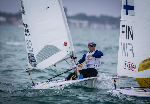 Hi-res image - Raymarine - Team GB's Nick Thompson is one of the world's best sailors in the Laser Class