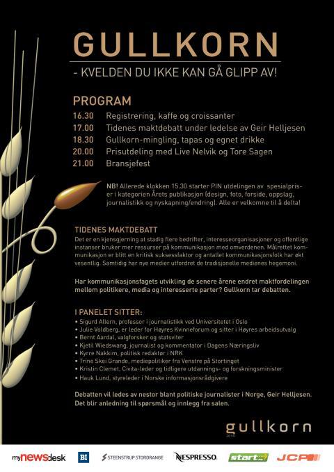 Program Gullkorn 2010