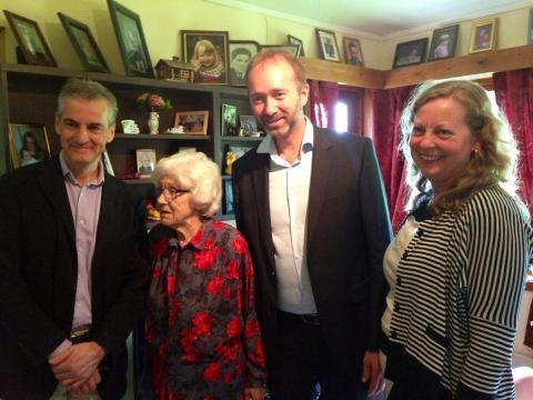 Ministermøte om fremtidens omsorg hos fru Lund