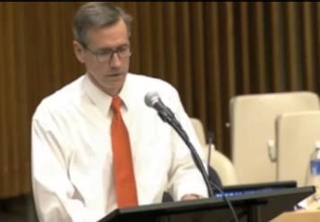 Cavidi CEO John Reisky de Dubnic presenting at the UN