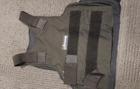 Bulletproof vest worn by Mitchell
