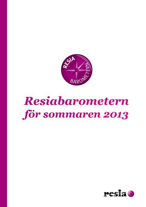 Resiabarometern sommaren 2013