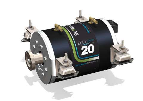 Hi-res image - Fischer Panda UK - Fischer Panda UK's 48v Bellmarine 20kW DriveMaster Ultimate water-cooled brushless motor system provides quiet, efficient and service-free electric propulsion for barge Sacred
