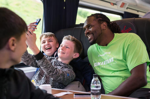 Audley Harrison serves up surprise to Virgin Trains' customers