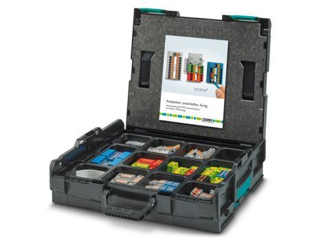 Conrad erbjuder PTFIX L-BOXX® med 130 färdiga fördelningsblock för verktygslös installation