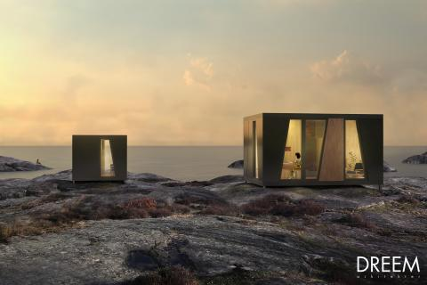 En del av förslaget 'Collective Geometries' innehåller den mindre modulen med bostad.