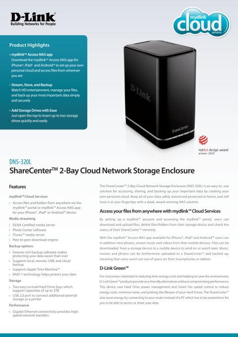 Produktblad - D-Link DNS-320L