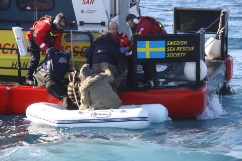 1 000 lives saved by the Swedish Sea Rescue Society in the Aegean Sea
