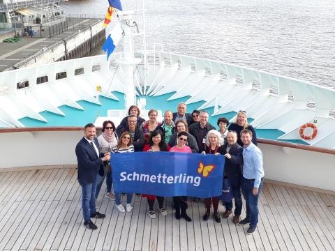 MS Artania und MSC Magnifica in Hamburg