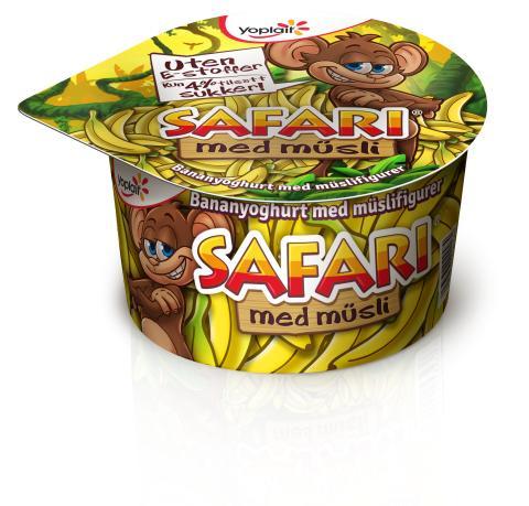 Safari müsliyoghurt med banan