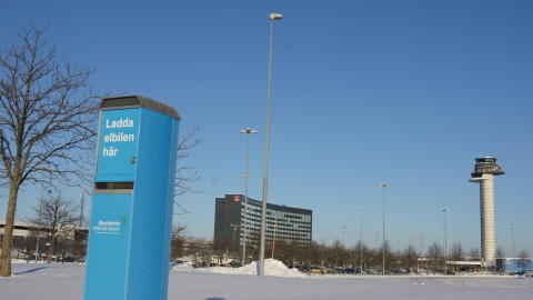 Laddstolpe Stockholm Arlanda Airport