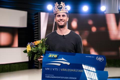 Karl Sandström från Sigtuna vann VM i V75