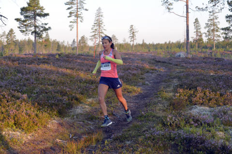 Jasmine Nunige, Schweiz. Ultravasan 2015. 90 km. Sälen - Mora.