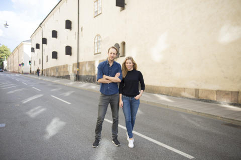 Pressbild Nils von Heijne och Ebba Hallin