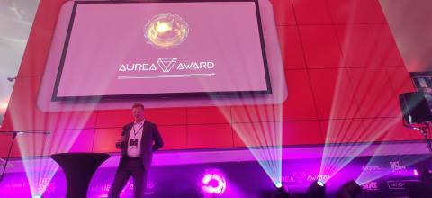 ManoMotion´s CEO presenting at AUREA Award