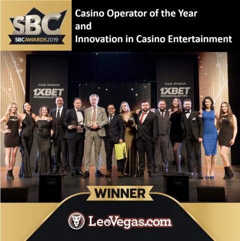 LeoVegas krönt till Årets Casinooperatör och är även Bästa Innovatör