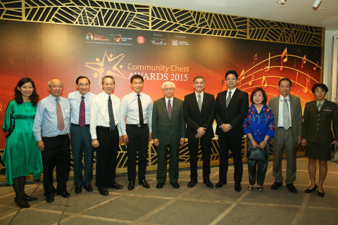 Community Chest Award Winners with Dr Tony Tan Keng Yam, President of the Republic of Singapore (Centre)