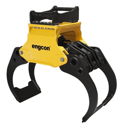 Engcon lanserar ny serie timmergripar för grävmaskiner