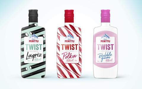 MINTTU MED EN TWIST: Nya Minttu Twist – lakritsstång, polkagris och bubbelgum på flaska