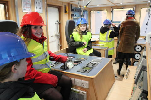 Buckie's Cluny Primary pupils get an exclusive pre-launch tour of the ship they named