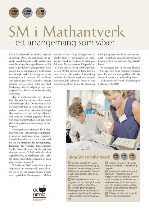 SM i Mathantverk 2010 till allmänhet