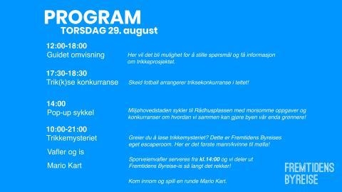 Program Fremtidens byreise  - nye trikker til Oslo 28. aug - 1. sept