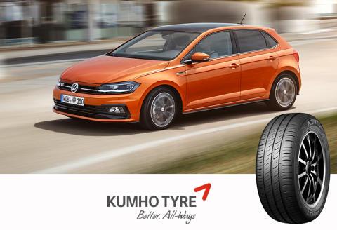 Nye Volkswagen Polo ruller på Kumho dekk