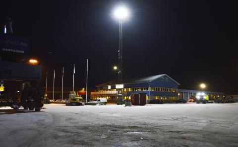 Mastbelysning Piteå Hamn