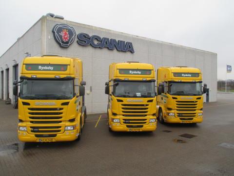 Tre nye Scania R 450 til Rynkeby