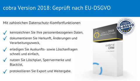 cobra Version 2018 DATENSCHUTZ-ready veröffentlicht