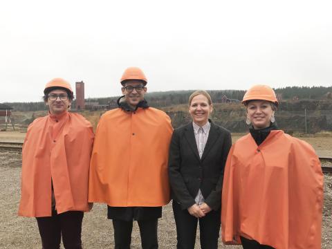 Dubbelt ambassadörsbesök i gruvan