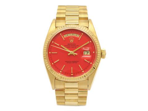 Klockkvaliten 17/5, Nr: 113, ROLEX, Oyster Perpetual, Day-Date (T SWISS T), Chronometer