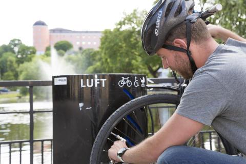 Uppsala - cykeln har huvudrollen i centrum