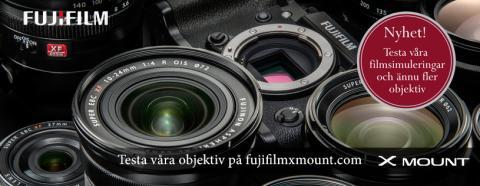 Testa våra objektiv på fujifilmxmount.com
