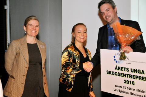 Lars Björkman är Årets Unga Skogsentreprenör
