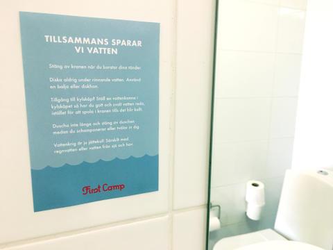 Initiativ hjälper svenska campare att spara vatten