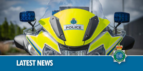 Police in Kirkby following collision -Moorgate Road