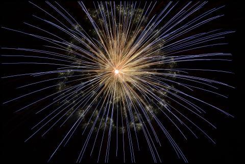"""Nyåret firas in med """"tyst"""" fyrverkeri"""