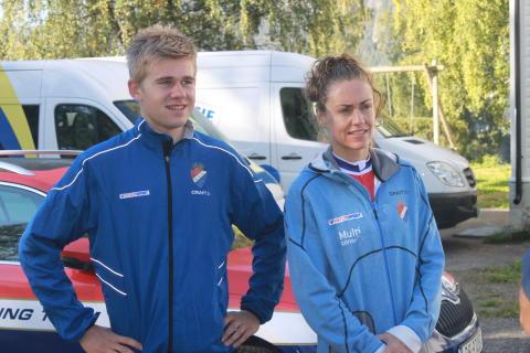 De to regjerende norgesmesterne under pressetreff VM Hafjell 2014