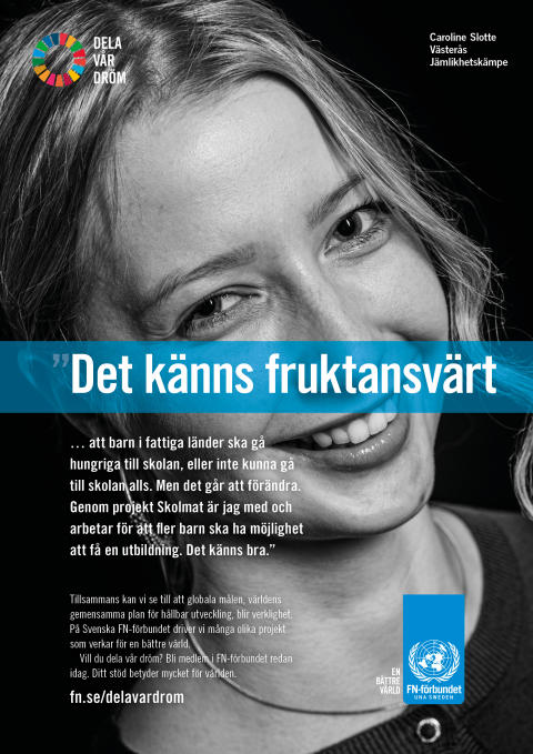 Caroline från Västerås vill dela sin dröm med fler