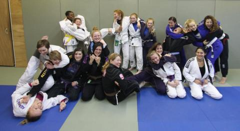 Filming session to profile women's BJJ in the UK