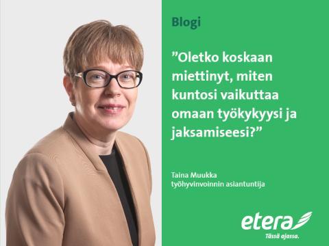 Taina Muukka: Tule mukaan matkalle hyvään kuntoon