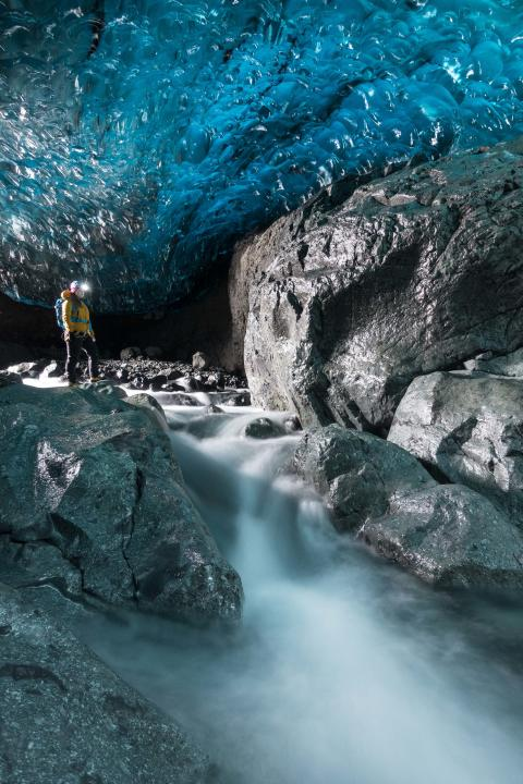 Vatnajökull Glacier caves taken on  RX100 IV