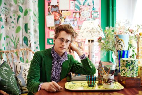 Svenskt Tenn brings artist Luke Edward Hall to Sweden